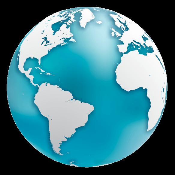 Globe terrestre face 1